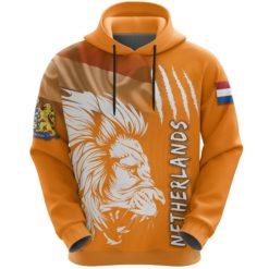 Netherlands Hoodie Lion, Nederland All Over Hoodie Flag TH5