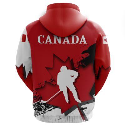 Canada Hockey Hoodie - Hockey Maple Leaf A02
