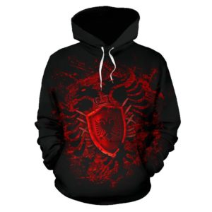 Albania All Over Hoodie - Bloody Style - Bn01
