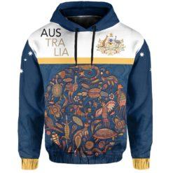1stTheWorld Australia Aborigines Animals Pullover Hoodie A02