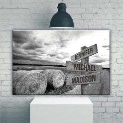 Country Road Multi-Names Premium Canvas