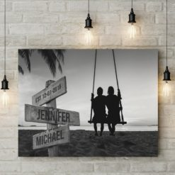 Couple Swing Names Premium Canvas