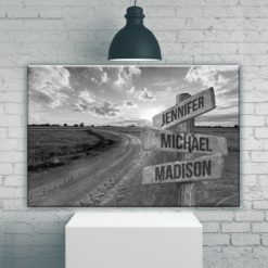 Dirt Road Multi-Names Premium Canvas
