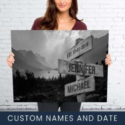 Mountain Range Names Premium Canvas